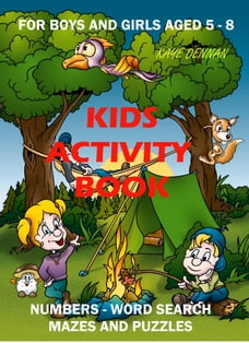 Kids Activity Book: Numbers - Word Search - Mazes and Puzzles
