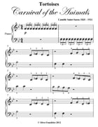 Tortoises Carnival of the Animals Beginner Piano Sheet Music by Camille Saint-Saens