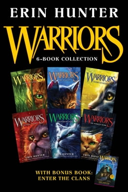 Book Warriors 6-Book Collection with Bonus Book: Enter the Clans: Books 1-6 Plus Enter the Clans by Erin Hunter