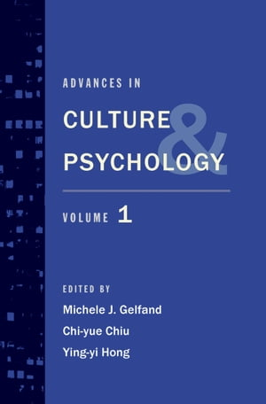 Advances in Culture and Psychology Volume 1