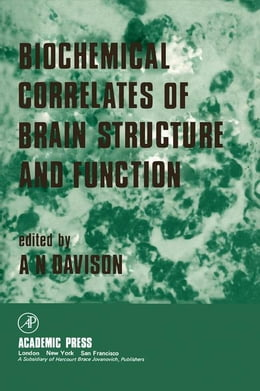 Book Biochemical Correlates of Brain Structure and Function by Davison, A.N.