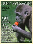 99 Pictures: Just Primate Photos! Big Book of Monkey, Ape, Gorilla, Chimpanzee, Orangutan, Baboon, and Lemur Photographs, Vol. 1 by Big Book of Photos