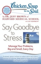 Chicken Soup for the Soul: Say Goodbye to Stress: Manage Your Problems, Big and Small, Every Day by Dr. Jeff Brown
