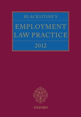 Book Blackstone's Employment Law Practice 2012 by Gavin Mansfield