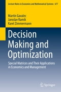 Decision Making and Optimization e838e02d-ae68-4b09-a045-9671a2589ff1