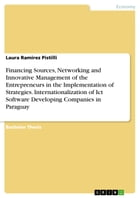 Financing Sources, Networking and Innovative Management of the Entrepreneurs in the Implementation of Strategies. Internationalization of Ict Software by Laura Ramirez Pistilli