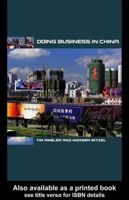 Book Doing Business in China by Ambler, Tim