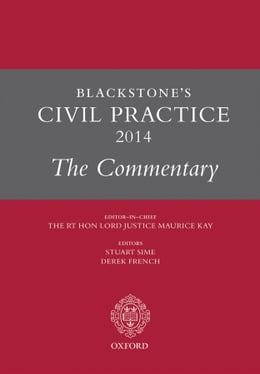 Book Blackstone's Civil Practice 2014: The Commentary by Derek French