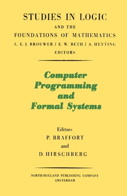 Book Computer Programming and Formal Systems by Beklemishev, Lev D.