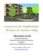 Creation Care for Neighborhoods: The Quest for Bayview Village by Sherman Lewis