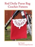 Red Doily Purse Bag Crochet Pattern (Crocheting) photo