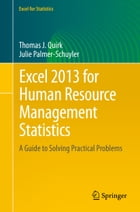 Excel 2013 for Human Resource Management Statistics: A Guide to Solving Practical Problems by Julie Palmer-Schuyler