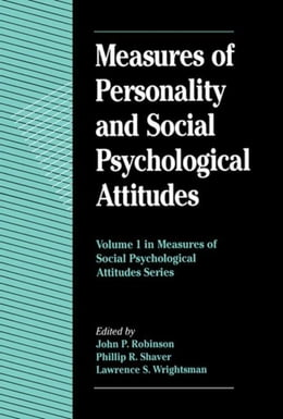 Book Measures of Personality and Social Psychological Attitudes by Robinson, John Paul