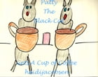 Patty The Black Cat Gets A Cup of Coffee by heidi jacobsen
