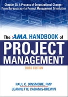 The AMA Handbook of Project Management, Chapter 25 by Paul C. DINSMORE
