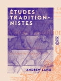 9782346052622 - Andrew Lang: Études traditionnistes - Libro