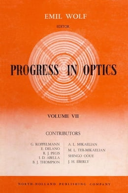 Book Progress in Optics by Wolf, Emil