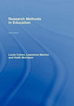 Book Research Methods in Education by Cohen, Louis