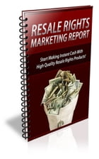 Resale Rights Marketing Report by Jimmy  Cai