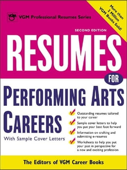 Book Resumes for Performing Arts Careers by Editors of VGM Career Books