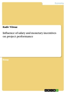 Influence of salary and monetary incentives on project performance