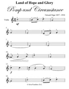 Land of Hope and Glory Pomp and Circumstance Easy Violin Sheet Music by Edward Elgar