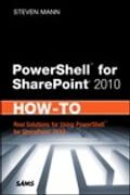 PowerShell for SharePoint 2010 How-To Deal