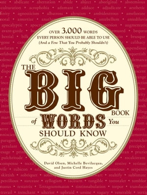 The Big Book of Words You Should Know Over 3,000 Words Every Person Should be Able to Use (And a few that you probably shouldn't)