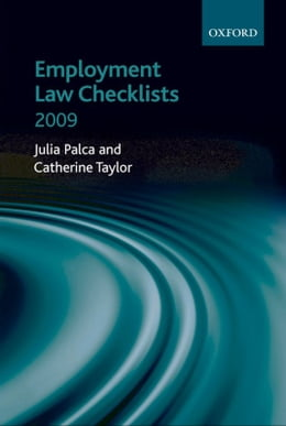 Book Employment Law Checklists 2009 by Julia Palca