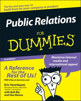 Book Public Relations For Dummies by Eric Yaverbaum