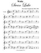 Waltz from Swan Lake Easy Violin Sheet Music by Peter Ilyich Tchaikovsky