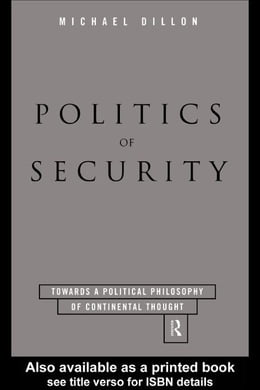 Book Politics of Security by Dillon, Michael