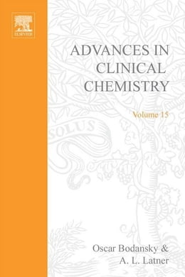 Book Advances in Clinical Chemistry by Bodansky, Oscar