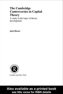 Book Cambridge Controversies in Capital Theory by Birner, Jack