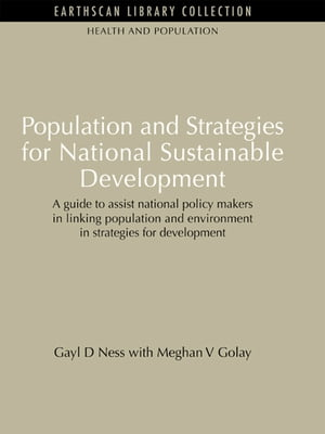 Population and Strategies for National Sustainable Development Population and Strategies for National Sustainable Development