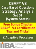 CBAP V3 Case Study based Sample Questions Strategy Analysis Set 01 by LN Mishra