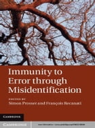 Immunity to Error through Misidentification: New Essays