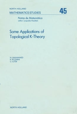 Book Some applications of topological K-theory by Mahammed, N.