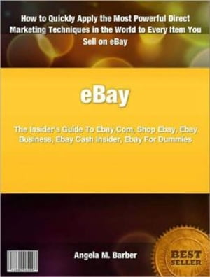 eBay The Insider's Guide To Ebay.Com,  Shop Ebay,  Ebay Business,  Ebay Cash Insider,  Ebay For Dummies