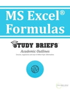 MS Excel  ® Formulas by Little Green Apples Publishing, LLC ™