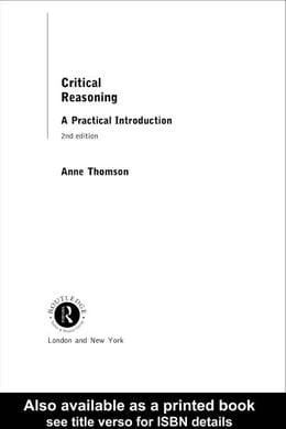 Book Critical Reasoning by Thomson, Anne