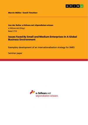 Issues Faced By Small and Medium Enterprises In A Global Business Environment: Exemplary development of an internationalisation strategy for SMES
