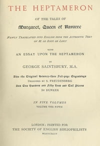 The Tales of the Heptameron, volume 5, Illustrated