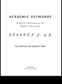 Academic Keywords: A Devil's Dictionary for Higher Education