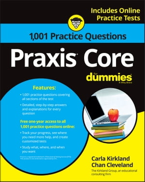 1, 001 Praxis Core Practice Questions For Dummies With Online Practice