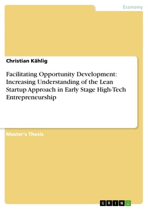 Facilitating Opportunity Development: Increasing Understanding of the Lean Startup Approach in Early Stage High-Tech Entrepreneurship