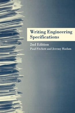 Book Writing Engineering Specifications by Fitchett, Paul