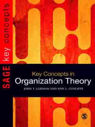 Key Concepts in Organization Theory by Ann L Cunliffe