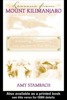 Book Lessons from Mount Kilimanjaro by Stambach, Amy