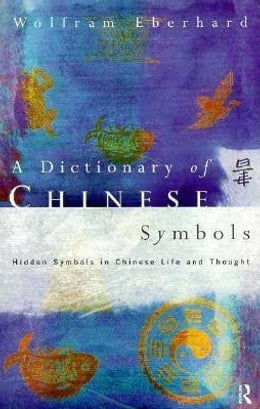 Book Dictionary of Chinese Symbols by Eberhard, Wolfram